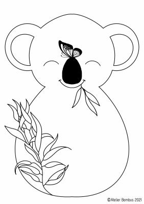 Le coloriage koala - Atelier Bombus