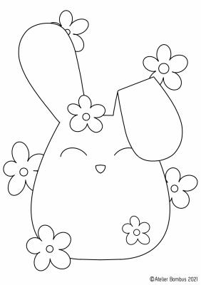 Le coloriage lapin - Atelier Bombus