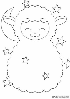 Le coloriage mouton - Atelier Bombus