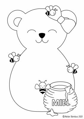 Le coloriage ours - Atelier Bombus