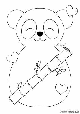Le coloriage panda - Atelier Bombus